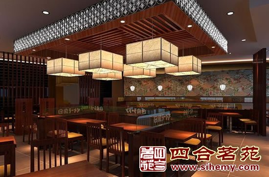 古典中式装修风格茶庄-茶楼大厅效果