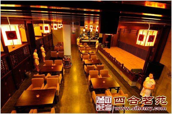 中式装修风格茶馆设计-茶楼大厅效果-中式装修风格茶馆让人与自然沟通