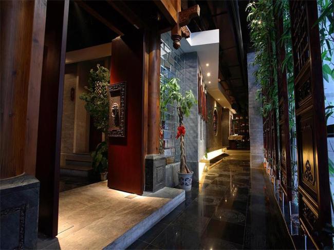 新中式风格茶楼走廊设计效果图展示 图文高清图片