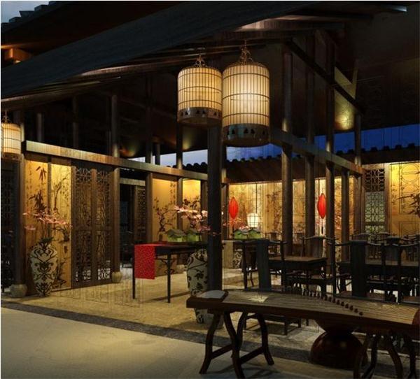 现代的中式茶楼装修效果图带来不一样的淡泊宁静